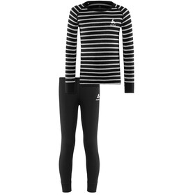 Odlo Active Originals Warm Set Kids black-grey melange-stripes